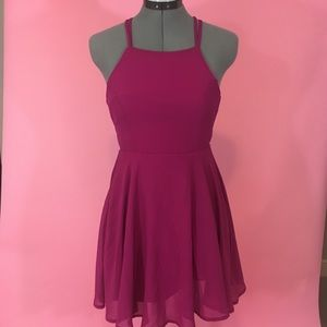 Womens Pink Lulu's Dress